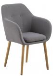 Selina Spisebordsstol - Lysegrå - Lysegrå spisebordsstol m. egetræsben