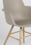 Zuiver Albert Kuip Spisebordsstol armlæn - Taupe
