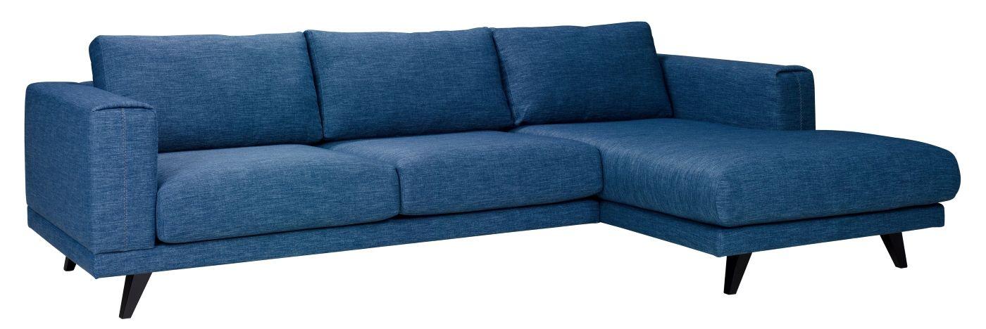 Ryder 2,5-pers. Sofa m. Chaiselong til højre - blå