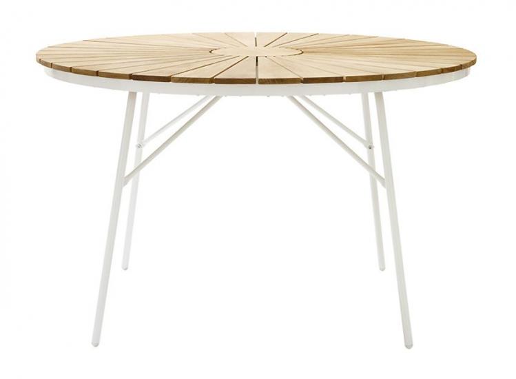 Hard & Ellen - Ø130 Havebord - Teak - Rundt havebord med teaktræ