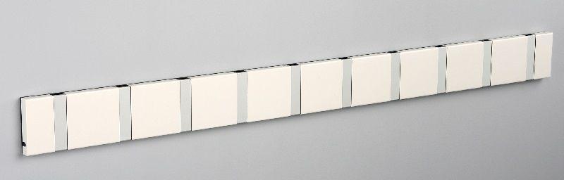 KNAX Knage - 10 knager - Hvid - Hvid knagerække med 10 knager