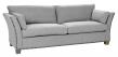 Milton 3-pers. Sofa - lys grå Uld m. nitter