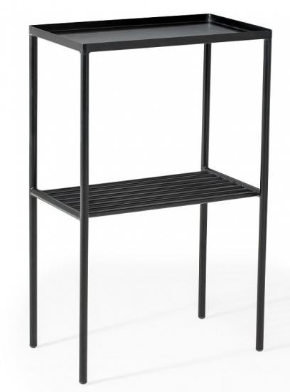Bloomingville Grid Sidebord - Sort - Sort metalsidebord