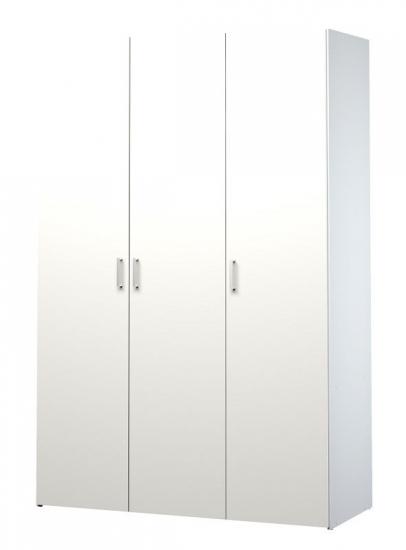 Space Garderobeskab - Hvid m/3 låger - Hvidt garderobeskab med tre låger