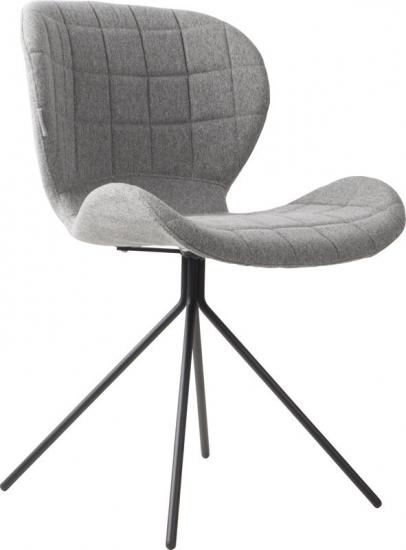 Zuiver OMG Spisebordsstol - Grå stof - Polstret spisestol i lekkert design og grå stoff