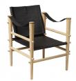 Noble Safari stol - Sort læder