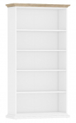 Paris Reol - Hvid/Lys træ m/5 hylder - Hvid reol