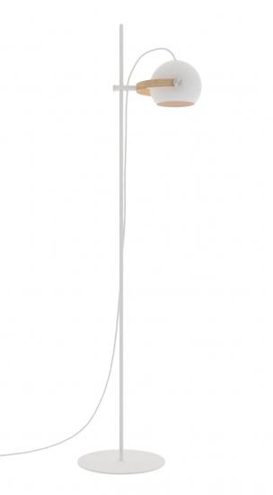 Halo Design D.C gulvlampe 1 arm Ø18 Hvid m/egetræ