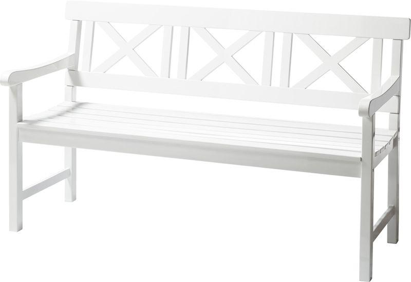 Løkken Havebænk, Hvid, B150