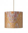 Ebb&Flow - Lampeskærm, brocade, gul/pink, Ø35, loftlampe