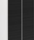 Esby Garderobeskab m. Skydedøre, Sort struktur 120cm