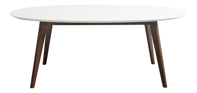Andersen DK10 Spisebord, Hvid laminat, valnød ben