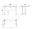 Prima Skrivebord - Hvid 120cm