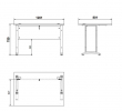 Prima Skrivebord - Sort 120cm