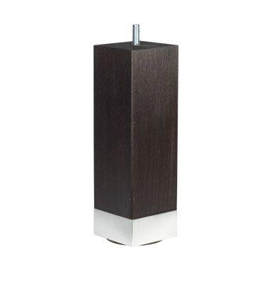 Firkantede sorte ben - 19 cm - Sorte ben med aluminiumskant