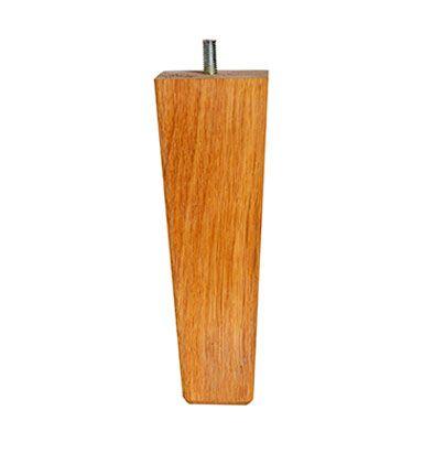 Konad egetræsben - 18 cm - Firkantet sengeben i eg