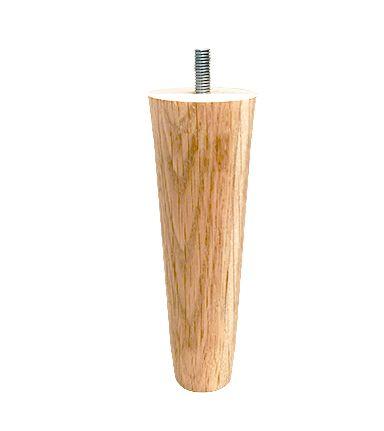 Runde egetræsben - 10 cm - Egetræsben til seng