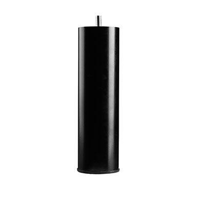 Runde metalben i sort - 19 cm - Sorte metalben