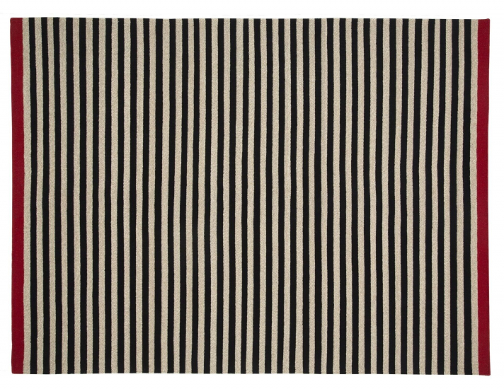 Fabula Rosemary tæppe - Sort/Beige - Håndvævet Kelim 140x200 cm