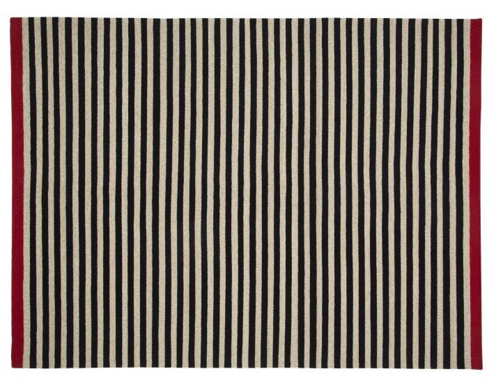 Fabula Rosemary tæppe - Sort/Beige - Håndvævet Kelim 200x300 cm