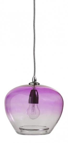 Nordal - Bubble Glaspendel - Lilla - Mundblæst pendel Ø23 cm