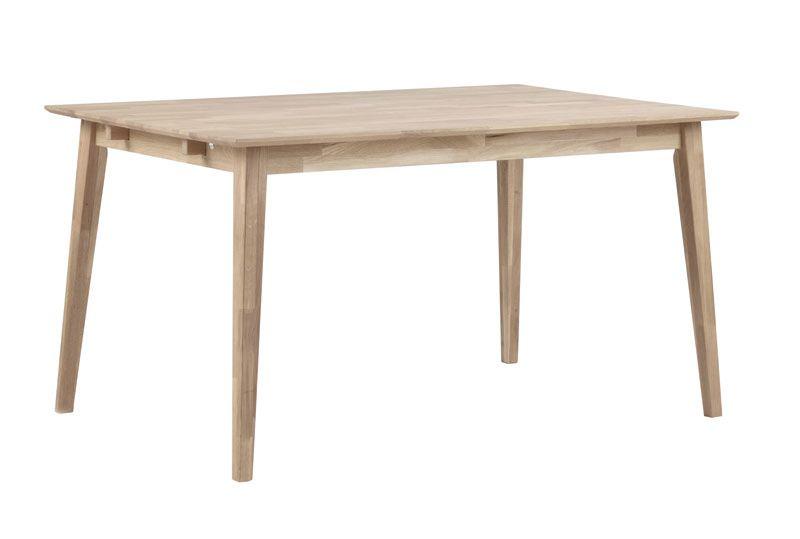 Filippa Spisebord - hvidvasket eg 140x90 - Hvidvasket egetræsspisebord