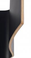 Gracy Spisebordsstol, Sort, Hvide ben
