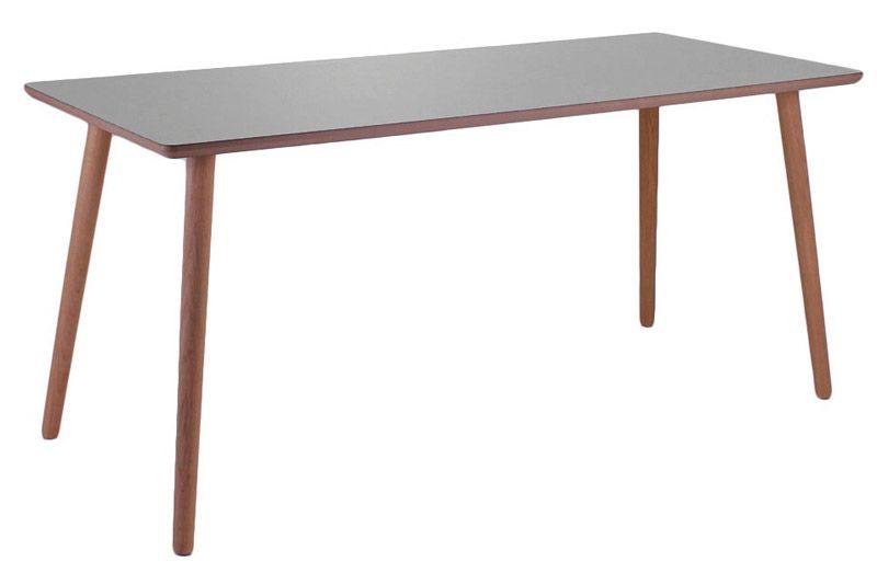 Furnliving Fog Skrivebord 120x75 - Grå - Gråt skrivebord med ben i lys eg