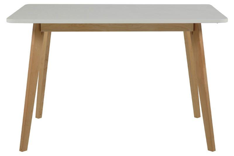 Clara Spisebord - Hvid - Spisebord m. hvid bordplade og ben i birk
