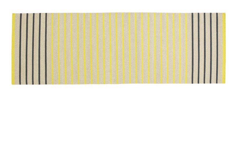 Fabula Living - Poppy  Gul Løber - 80x240 - Håndvævet Kelim 80 x 240 cm