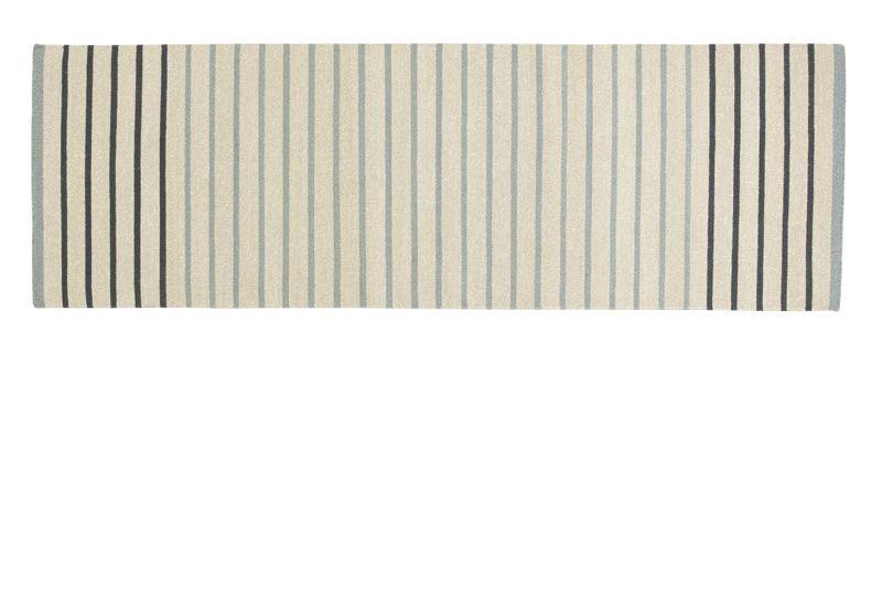 Fabula Living - Poppy  Blå Løber - 80x240 - Håndvævet Kelim 80 x 240 cm
