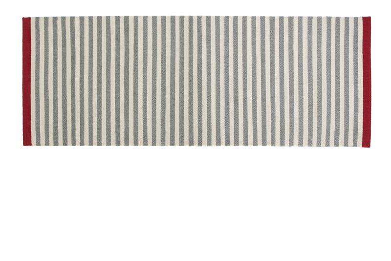 Fabula Living - Rosemary Grå Løber - 90x250 - Håndvævet Kelim 90 x 250 cm