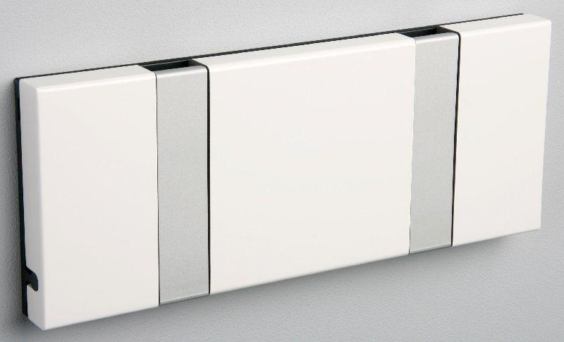 KNAX Knagerække Hvid - 2 grå knager