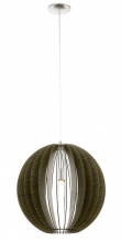 Cossano - Ø50 Pendel - Brun - Rund brun pendel - Ø50 cm