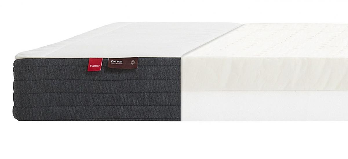 FLEXA Sleep - Latexmadras m. bomulds cover - 90x200cm