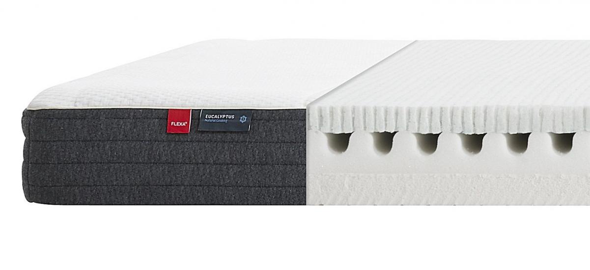 FLEXA Sleep - FLEXA-madras m. Eucalyptusbetræk - 90x200cm