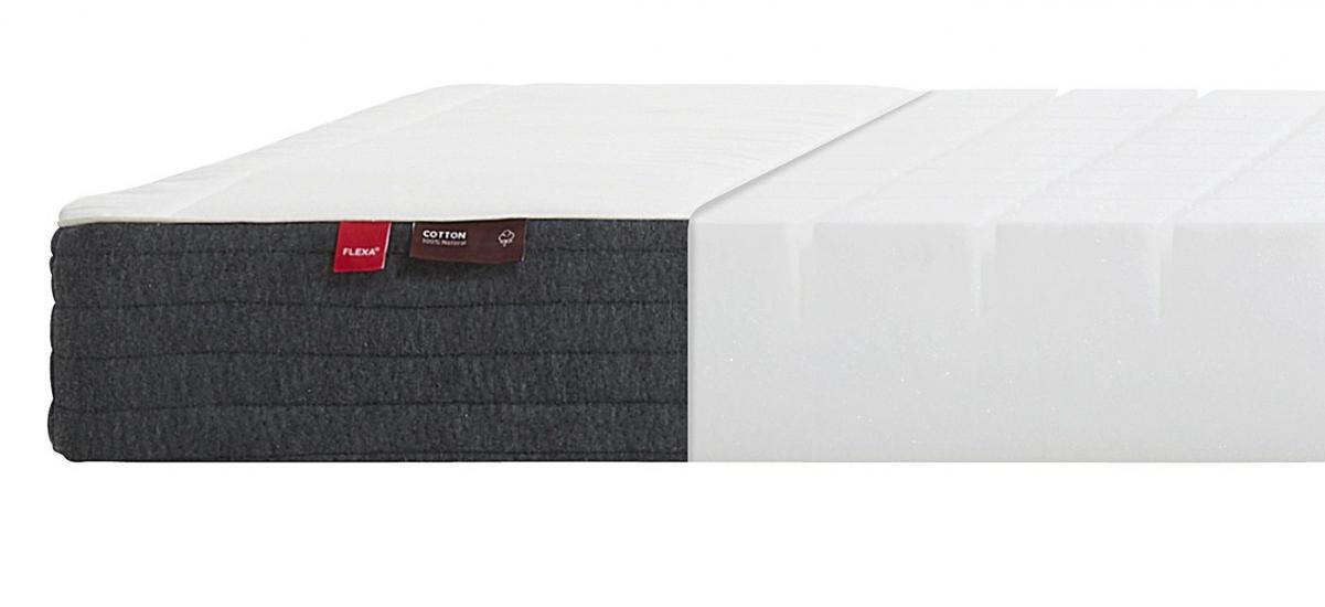 FLEXA Sleep - Skummadras m. bomulds cover - 90x200cm