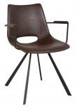 Wayne Spisebordsstol - Mørkebrun m. Armlæn