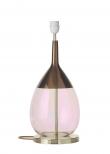 Ebb&Flow - Lute lampefod, coral/copper, Guld base