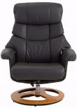 Tony Hvilestol med skammel Mørk grå læder og PU