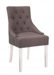 Nova Spisebordsstol - Grå stof og hvide ben