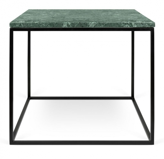 Temahome Gleam Sidebord - Grøn marmor, sort stel 50 cm