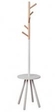 Zuiver - Table Tree Stumtjener - Hvid - Funktionel designer stumtjener i hvid og lyst træ