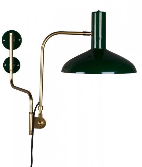 Dutchbone - Devi Væglampe - Grøn - Grønn vegglampe