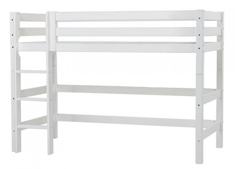 Hoppekids Premium Mellemhøj seng - Mellemhøj seng med stige - 90x200 cm