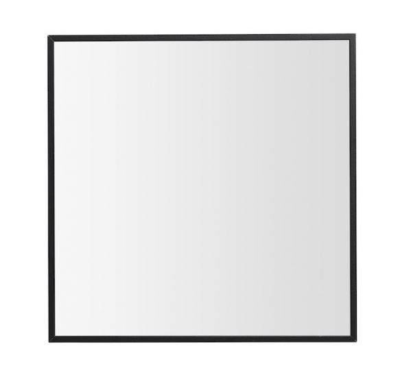 by Lassen - View Spejl 29,7x29,7 - Sort - Lille spejl med ramme