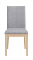 Amanda Spisebordsstol lys grå - hvidvasket