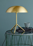 Bloomingville Bordlampe - Guld - Ø35