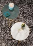 homii Timpa Sidebord - Grøn marmor, Ø44,5