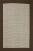 Casablanca fladvævet tæppe m. brun kant - 160x240